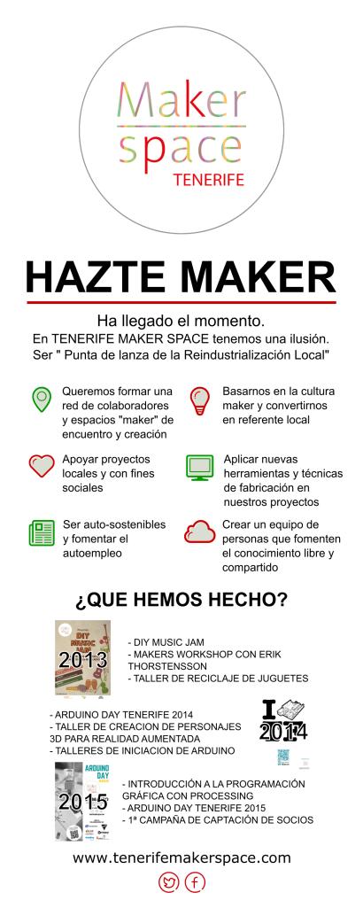 Únete a Tenerife Maker Space. Hazte Maker